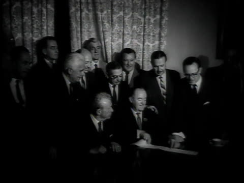 exterior capitol hill / senators smiling holding voting paper / votes on paper - 1964 stock videos & royalty-free footage