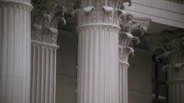 tu exterior corinthian columns of the u.s. supreme court building / washington, d.c., united states - us supreme court building stock videos and b-roll footage