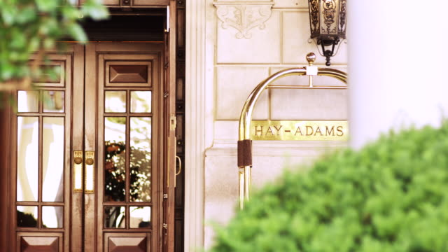 ms exterior door of hay adams hotel / washington, district of columbia, united states - hay stock videos and b-roll footage
