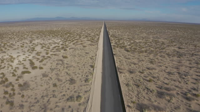 exterior drone shots of the mexico–united states barrier border wall on 4th february 2019 in el paso untited states - national border stock videos & royalty-free footage