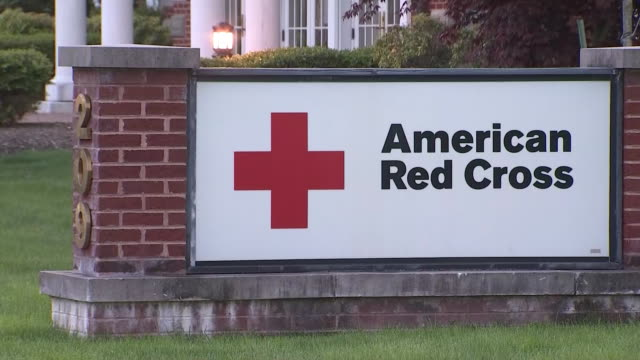 exterior establishing shot of the american red cross in fairfield, new jersey. - american red cross stock videos & royalty-free footage