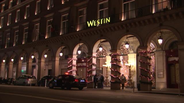 vídeos de stock e filmes b-roll de exterior establishing shot of the westin paris vendome on december 14 2018 - praça vendome