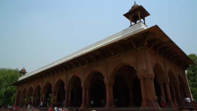 exterior facade at diwan-i-am. - mughal empire stock videos and b-roll footage