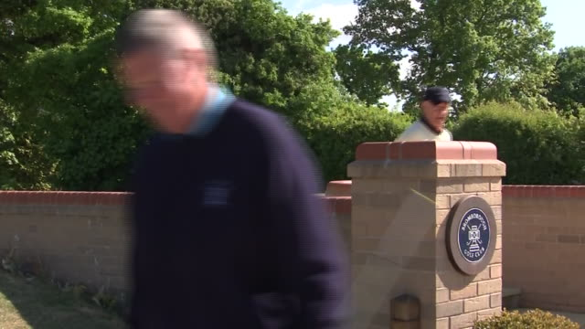 exterior footage of bromborough golf club open for the first time during lockdown while mantaining social distancing on the 13th may 2020 bromborough... - golf club stock videos & royalty-free footage