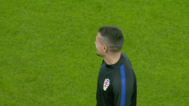 exterior footage of croatia national footbal team training at cardiff city stadium on 20th october 2019, cardiff, wales. - national team stock videos & royalty-free footage