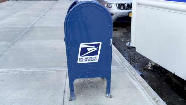 exterior footage of the united states postal service in the new york city borough of manhattan in the neighborhood of inwood. - letterbox stock videos & royalty-free footage