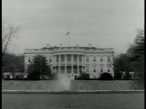 exterior front of white house. ext executive office windows. - 1935 stock videos & royalty-free footage
