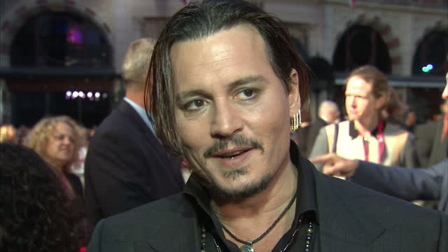 Exterior grab Johnny Depp actor at Black Mass London Premiere talks about the makeup process of becoming Whitey Bulger and the reaction from some of...