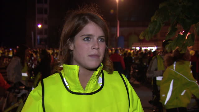 exterior grab princess eugenie speaks about her cycle rides around london for charity princess eugenie grab on charity cycle on june 10 2012 in... - scoliosis stock videos and b-roll footage