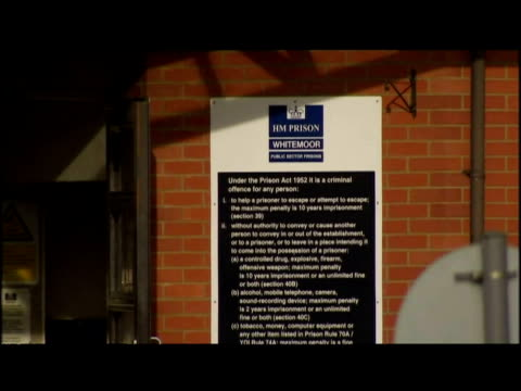 exterior gvs of whitemoor prison - whitemoor prison stock videos and b-roll footage