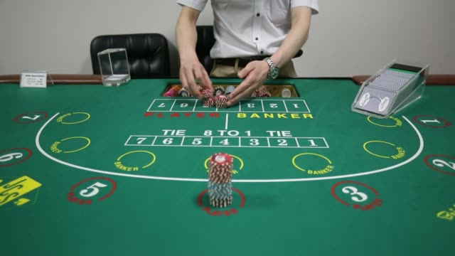 exterior hanging sign for the japan casino school a croupier works at a card table at the japan casino school in tokyo close shot of a stack of... - blackjack video stock e b–roll