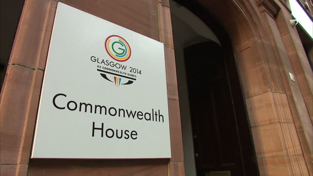 Exterior Interior shots of Commonwealth House offices of Glasgow 2014 Commonwealth Games Commonwealth House Reception on December 16 2013 in Glasgow...