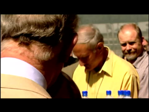 exterior & interior shots prince charles chats with soldiers at the british embassy in kabul. prince charles has visited afghanistan -- becoming the... - provinz helmand stock-videos und b-roll-filmmaterial