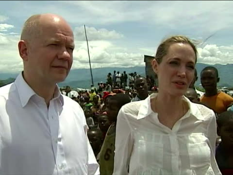 Exterior interview Angelina Jolie talks on the resilience of the Congolese people the message of the aid initiative Angelina Jolie Speaks on the Aid...