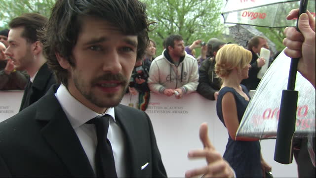exterior interview ben whishaw, winner of leading actor award for his performance in richard ii , talks about how challenging his role was. ben... - ben whishaw stock videos & royalty-free footage