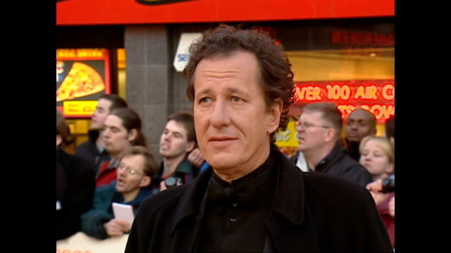 exterior interview geoffrey rush actor on the red carpet at the bafta awards talking about his bafta nominated role as the marquis de sade in the... - british academy television awards stock videos & royalty-free footage