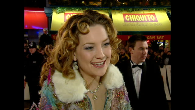 exterior interview kate hudson actress on red carpet at the bafta awards talking about her bafta nomination for almost famous on february 25 2001 in... - kate hudson stock videos & royalty-free footage
