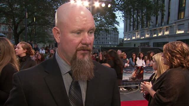 Exterior interview Mike Williams at the premiere of Deepwater Horizon at Leicester Square on September 26 2016 in London England