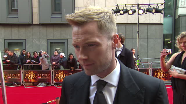 exterior interview ronan keating on the red carpet at the laurence olivier awards ronan keating interview at the olivier awards on april 15, 2012 in... - ronan keating stock videos & royalty-free footage