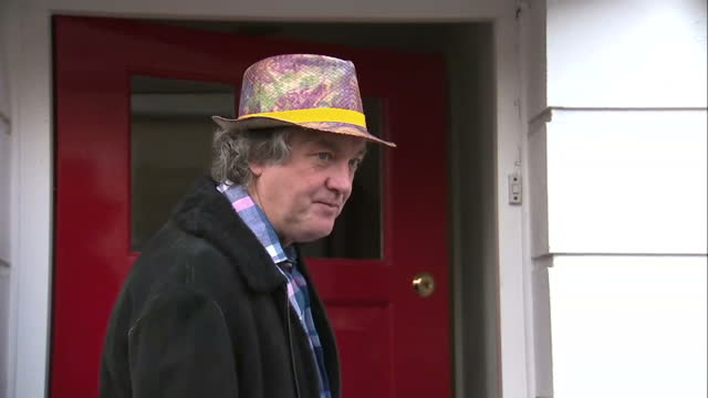 exterior interview shots with james may of top gear fame speaking after hearing the news of jeremy clarkson's sacking by the bbc on march 25 2015 in... - jeremy clarkson stock-videos und b-roll-filmmaterial