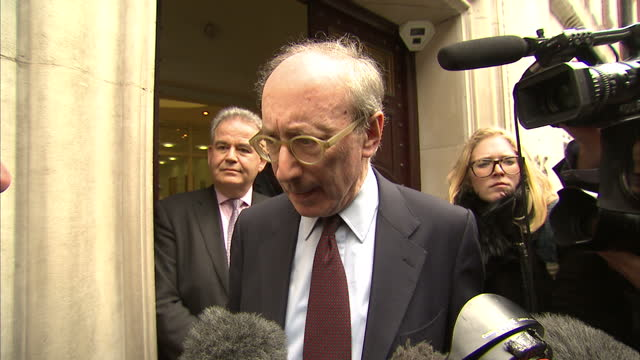 exterior interview sir malcolm rifkind mp frm chairman intelligence and security committee exterior shots sir malcolm rifkind in media scrum exterior... - vox populi stock videos and b-roll footage