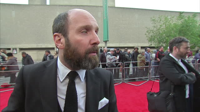 exterior interview with actor johnny harris speaking about the bfi southbank being his local cinema paying tribute to the people who helped to make... - bfi southbank stock videos & royalty-free footage