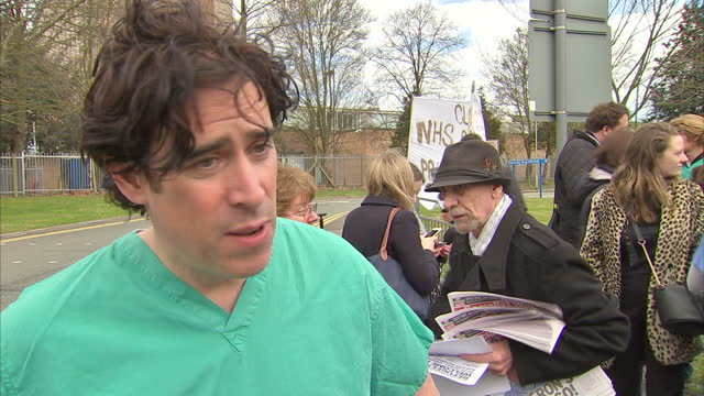 Exterior interview with actor Stephen Mangan speaking about why he and other members of the cast of the medical comedy series Green Wing have decided...