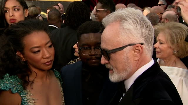 exterior interview with actors betty gabriel, lil rel howery and bradley whitford on the importance of the time's up movement for other industries.>>... - bradley whitford stock videos & royalty-free footage