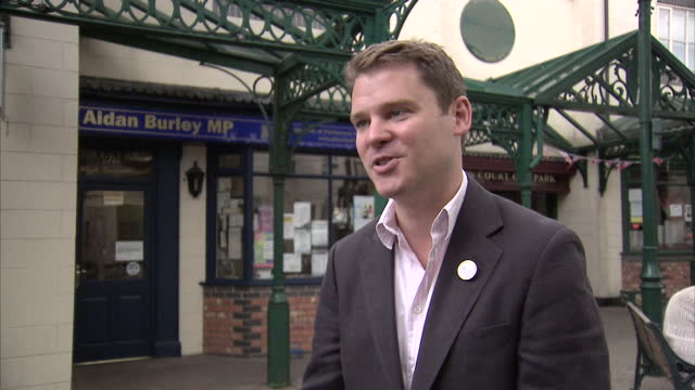 exterior interview with aidan burley criticising olympic opening ceremony sky news olympics day 1 coverage on july 28 2012 in london england - 1日目点の映像素材/bロール