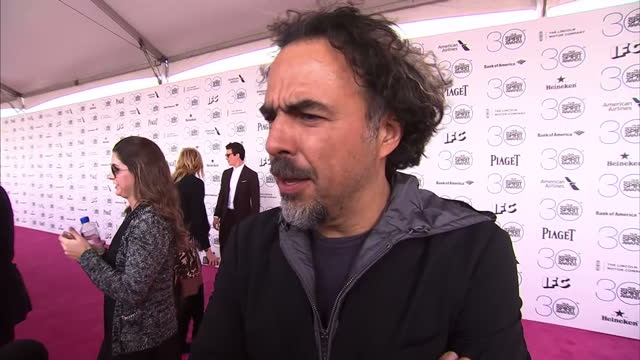 Exterior interview with Alejandro G Inarritu Director on his Oscar nomination on February 23 2015 in Los Angeles California