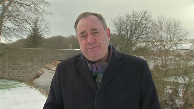 Exterior interview with Alex Salmond former Scottish first minister on EU renegotiation on February 14 2016 in Edinburgh United Kingdom