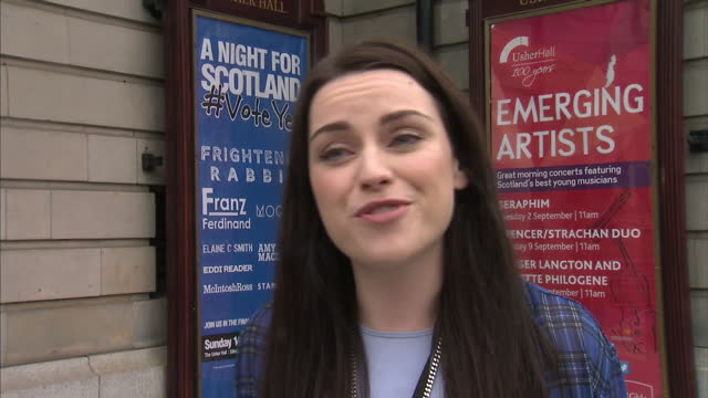 exterior interview with amy macdonald a scottish singer songwriter who is supporting the yes campaign for scottish independence. on september 15,... - amy macdonald stock videos & royalty-free footage