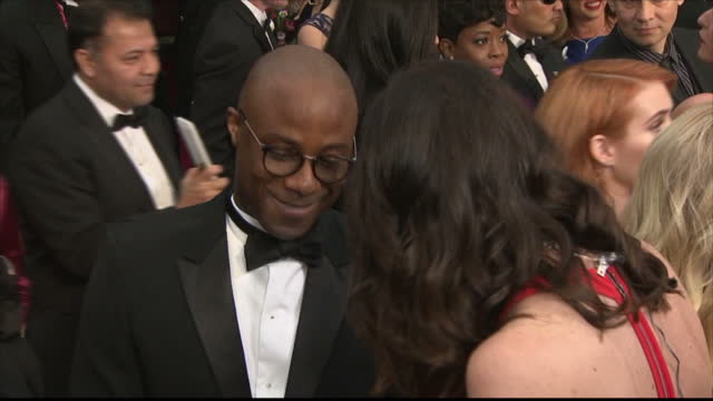 exterior interview with barry jenkins director of moonlight speaking about moonlight being nominated for the best picture award>> on february 26 2017... - barry jenkins film director stock videos and b-roll footage