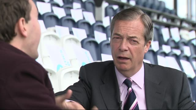 exterior interview with brexit party founder nigel farage after a campaign rally on 7 may 2019 in fylde lancashire united kingdom - founder stock videos and b-roll footage