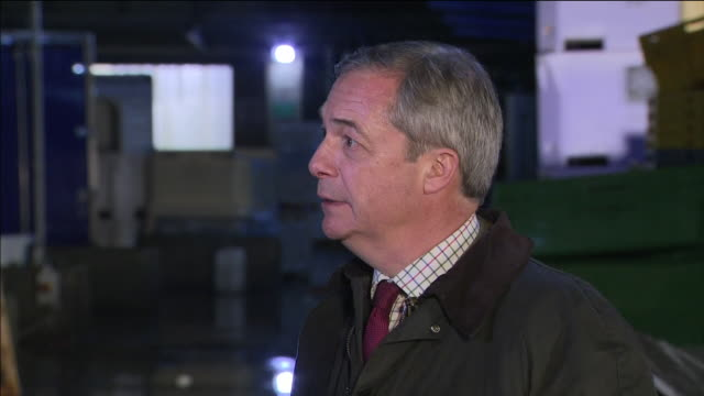 exterior interview with brexit party leader nigel farage speaking about brexit party candidates coming under intimidation and them being approached... - nigel farage stock videos & royalty-free footage