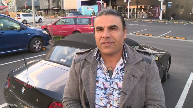 exterior interview with christchurch mosque shooting survivor abdul aziz on the sentencing of brenton tarrant on 27 august 2020 in christchurch, new... - sentencing stock videos & royalty-free footage