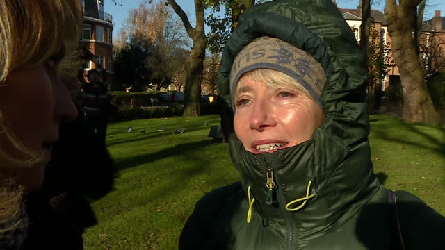 exterior interview with emma thompson speaking about her support for the campaign to free nazanin zaghariratcliffe from prison in iran on november 25... - emma thompson stock videos and b-roll footage