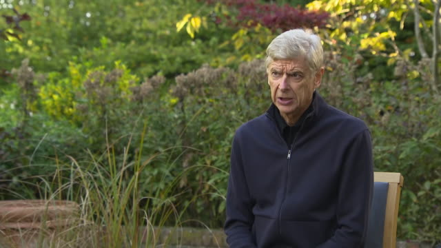 exterior interview with former arsenal manager, arsene wenger in london on 15 october 2020 - biography stock videos & royalty-free footage