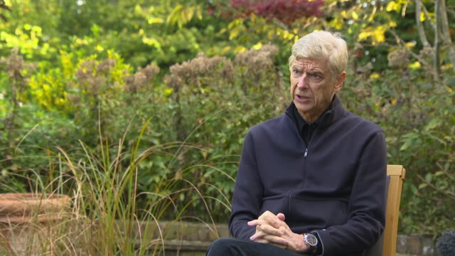 exterior interview with former arsenal manager, arsene wenger, responding to a question about the lack of black managers in football, in london on 15... - autobiography stock videos & royalty-free footage