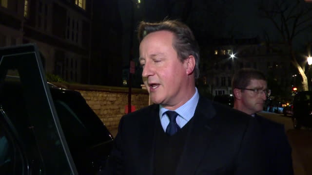 exterior interview with former prime minister david cameron on the brexit negotiations on 10 december 2018 in london united kingdom - david cameron politician stock videos & royalty-free footage