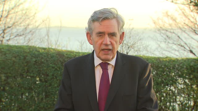exterior interview with former prime minister gordon brown on lockdown planning and the prospect of a vaccine for coronavirus on 19 november 2020 in... - gordon brown stock-videos und b-roll-filmmaterial