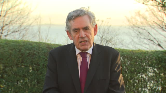 exterior interview with former prime minister gordon brown on devolution and the relationship between downing street and the devolved nations on 19... - gordon brown stock videos & royalty-free footage