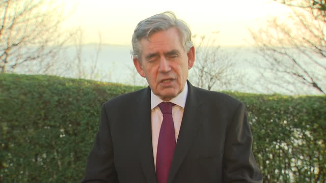 exterior interview with former prime minister gordon brown on lockdown planning and the prospect of a vaccine for coronavirus on 19 november 2020 in... - gordon brown stock videos & royalty-free footage