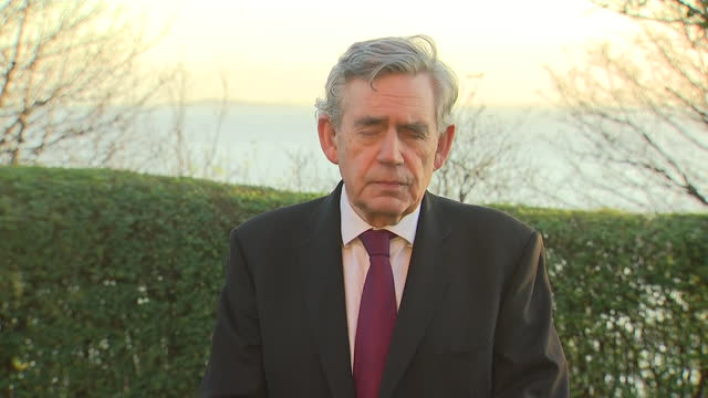 exterior interview with former prime minister gordon brown on foreign aid and labour alleged antisemitism on 19 november 2020 in edinburgh, scotland - gordon brown stock videos & royalty-free footage