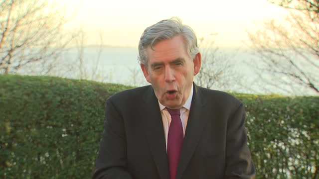 exterior interview with former prime minister gordon brown on the government furlough scheme and foreign aid on 19 november 2020 in edinburgh,... - gordon brown stock videos & royalty-free footage