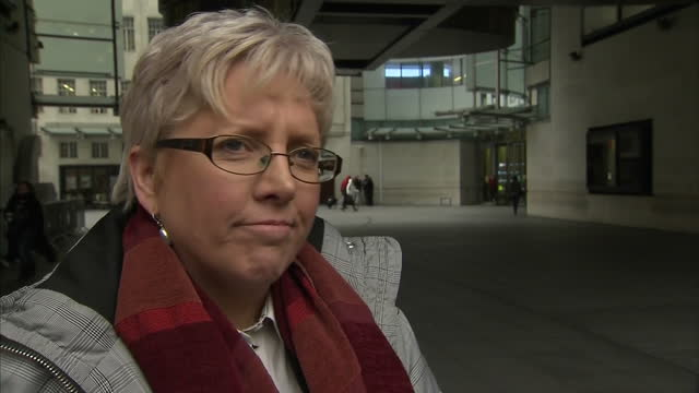 Exterior interview with journalist Carrie Gracie speaking about her reasons for resigning from her position as BBC China editor in protest over pay...