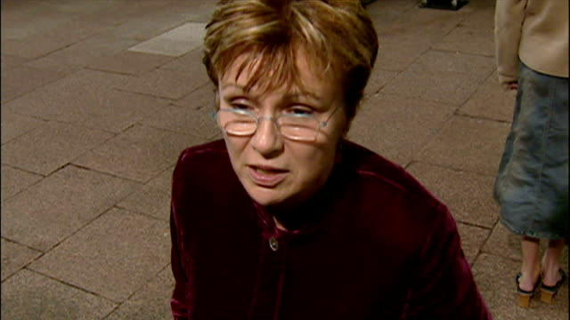 exterior interview with julie walters at the premiere of harry potter and the chamber of secrets on november 3 2002 in london england - harry potter stock videos & royalty-free footage