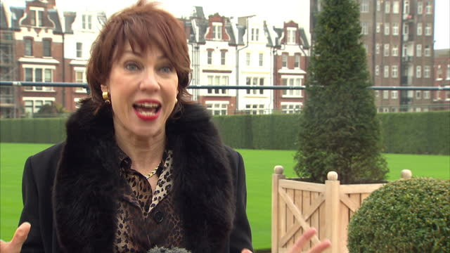 exterior interview with kathy lette speaking about frankie cocozza not having any talent and x factor kathy lette interview about x factor on... - kathy lette stock videos & royalty-free footage