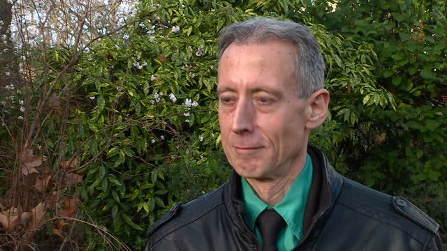 exterior interview with lgbt rights campaigner peter tatchell on george michael's coming out on december 26 2016 in london england - monumento commemorativo temporaneo video stock e b–roll