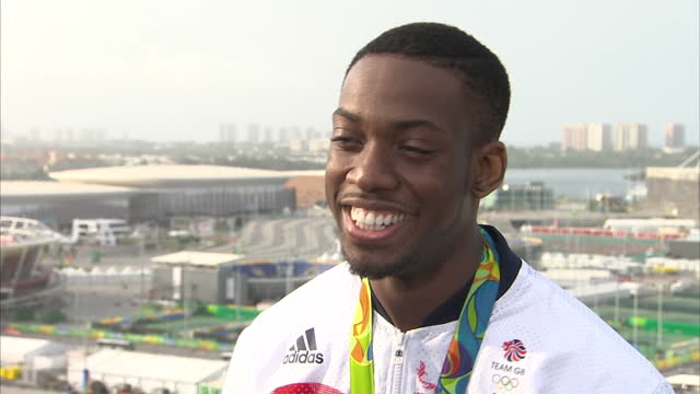 Exterior interview with Lutalo Muhammad Team GB Taekwondo Athlete and Rio 2016 Silver Medalist talks about coming so close to winning Gold Medal...